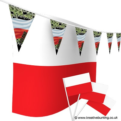 Poland Football Bunting & Flags Bundle