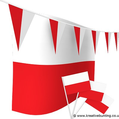 Poland Bunting & Flags Bundle