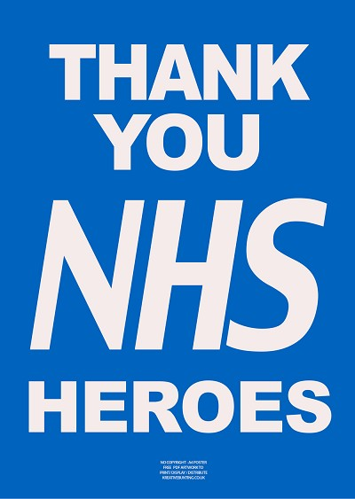 "NHS ""THANK YOU"" A3 POSTERS (PACK OF 10)"