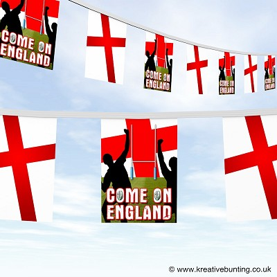 Come On England Rugby Bunting Version 1