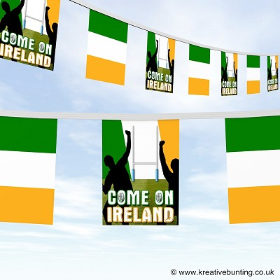 Come On Ireland Rugby Bunting Version 1