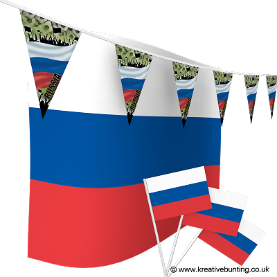 Russia Football Bunting & Flags Bundle