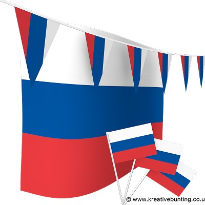 Russia Bunting & Flags Bundle