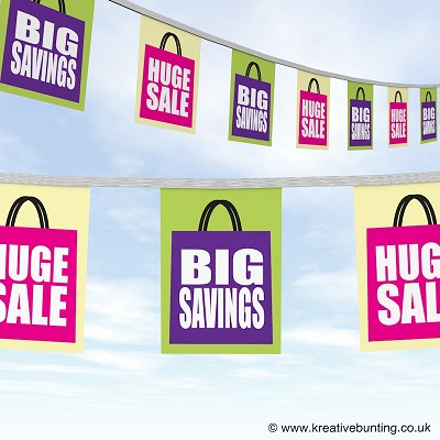 Huge Sales Big Savings Bunting