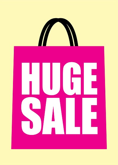 "A3 ""Huge Sale - Bag Design"" Posters - Packs from £19"