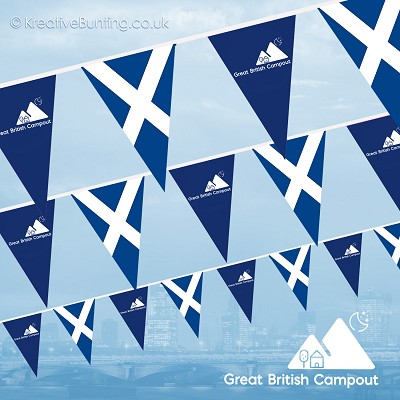 Great British Campout Bunting - Scotland Flag Version