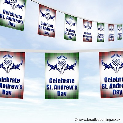 St. Andrew's Day bunting - Scottish Thistle design