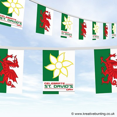 St. Davids day - Welsh bunting 4