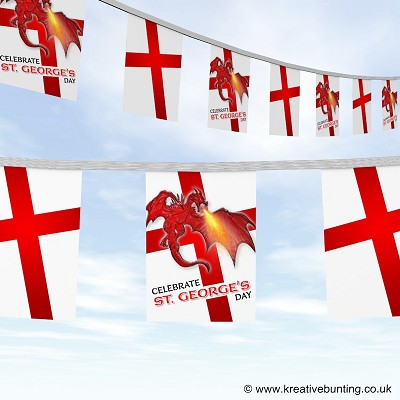 St George Dragon bunting design