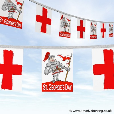 St. George's Day bunting - Knight in shining armour Design