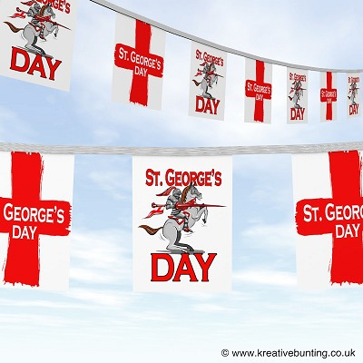 St Georges Day knight on horse design