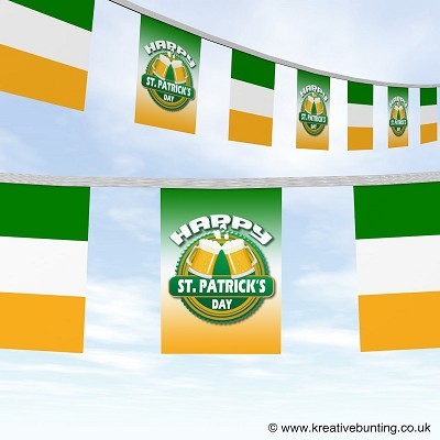 St Patrick's Day bunting cheers design and flag