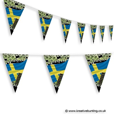 Sweden Football Bunting - Crowd Design