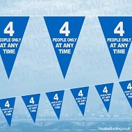 Four People Only At Any Time Bunting