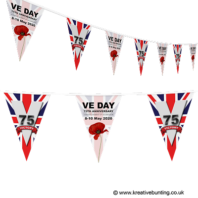 VE Day 75th Anniversary Bunting