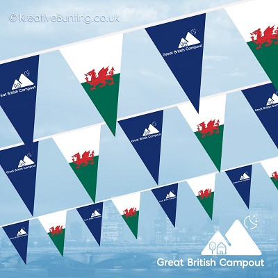 Great British Campout Bunting - Wales Flag Version