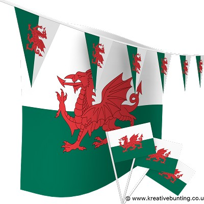 Wales Football Bunting & Flags Bundle
