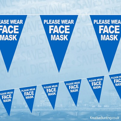 Please Wear Face Mask Bunting