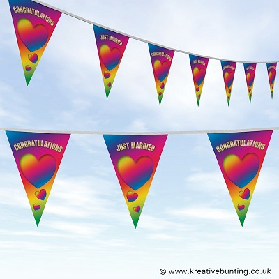 Wedding Day Bunting Rainbow Design