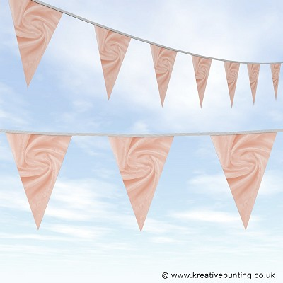 Wedding Day Bunting - Velvet Dusky Pink